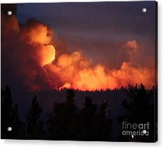 Acrylic Print featuring the photograph White Draw Fire First Night by Bill Gabbert