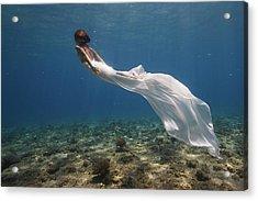 White Dress Acrylic Print