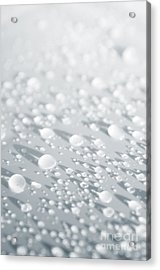 White Droplets Acrylic Print