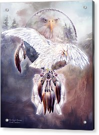 White Eagle Dreams 2 Acrylic Print by Carol Cavalaris