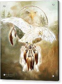 White Eagle Dreams Acrylic Print by Carol Cavalaris