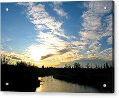 White Earth River Acrylic Print by Brian Sereda