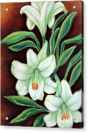 White Elegance Acrylic Print