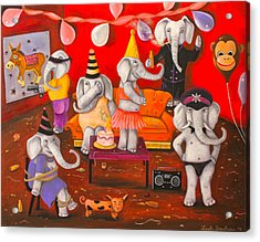 White Elephant Party Edit 5 Acrylic Print