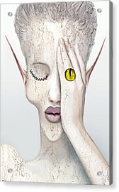White Face Acrylic Print by Yosi Cupano