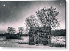 White Farms Acrylic Print by Stuart Deacon