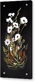 White Flowers Acrylic Print by Dorothy Maier