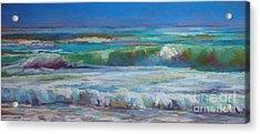 White Foam Acrylic Print by Virginia Dauth