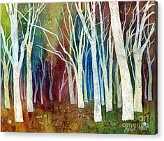 White Forest I Acrylic Print by Hailey E Herrera