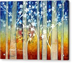 White Forest II Acrylic Print