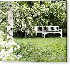 White Garden Iv Acrylic Print