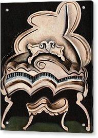 Abstract White Grand Piano Art Print Acrylic Print