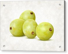 White Grapes Acrylic Print by Danny Smythe