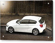 White Hatchback Car Acrylic Print
