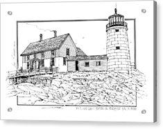 White Head Light Station Penobscot Maine Acrylic Print by Ira Shander