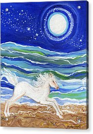White Horse Of The Sea Acrylic Print