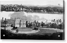 White House, Capitol, 1815 Acrylic Print by Granger