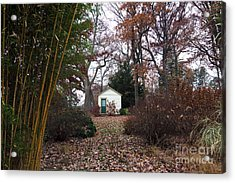 White House In The Garden Acrylic Print by John Rizzuto