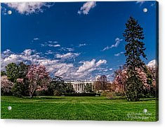 White House Lawn In Spring Acrylic Print by Christopher Holmes
