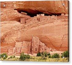 White House Ruins Canyon De Chelly Acrylic Print