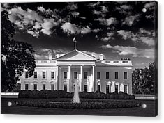 White House Sunrise B W Acrylic Print
