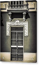 White Iron Acrylic Print by Perry Webster
