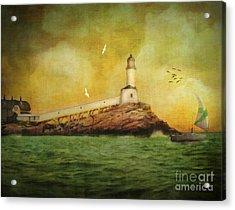 White Island Light - Isles Of Shoals Acrylic Print by Lianne Schneider