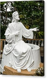 White Jesus Statue Acrylic Print