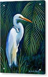 White Knight Acrylic Print by Susan Duda