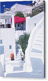 White Labyrinth Acrylic Print by Aiolos Greek Collections