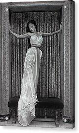 White Lace Acrylic Print by Tim Dangaran