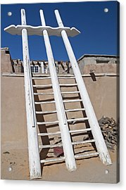White Ladder Acrylic Print by Jennifer Nelson