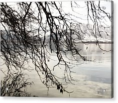 White Lake Acrylic Print by Persephone Artworks