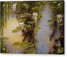 White Lilies Acrylic Print by Svetla Dimitrova