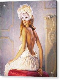 White Mask Acrylic Print