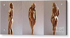 White Naked - Wood Sculpture Acrylic Print
