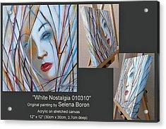 White Nostalgia 010310 Comp Acrylic Print