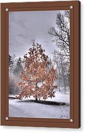 Acrylic Print featuring the digital art White Oak In Fog  Framed by Ed Cilley