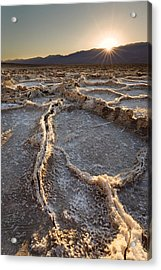 Acrylic Print featuring the photograph Death Valley - White Ocean by Francesco Emanuele Carucci