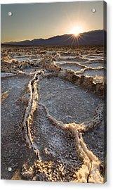 Death Valley - White Ocean Acrylic Print by Francesco Emanuele Carucci