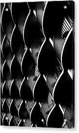 White On Black Acrylic Print by Edward Khutoretskiy