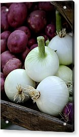 White Onions And Red Potatoes Acrylic Print by Julie Palencia