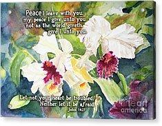 White Orchid John 14 Acrylic Print