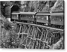 White Pass Railway Acrylic Print by Dawn Currie