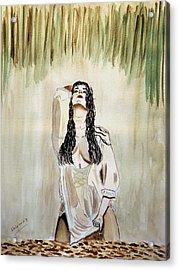 White Passion Acrylic Print by Shlomo Zangilevitch