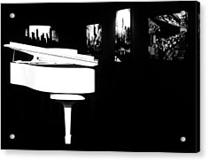 White Piano Acrylic Print by Benjamin Yeager