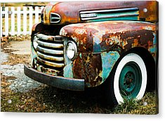 White Picket Dreams II Acrylic Print by Off The Beaten Path Photography - Andrew Alexander