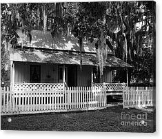 White Picket Fence Acrylic Print by Mel Steinhauer