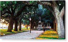 White Point Garden Walkway Charleston Sc Acrylic Print