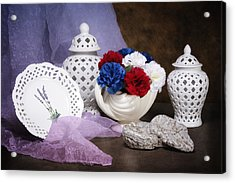 White Porcelain Still Life Acrylic Print by Tom Mc Nemar